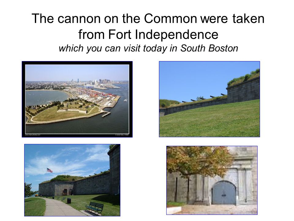 The cannon on the Common were taken from Fort Independence which you can visit today in South Boston