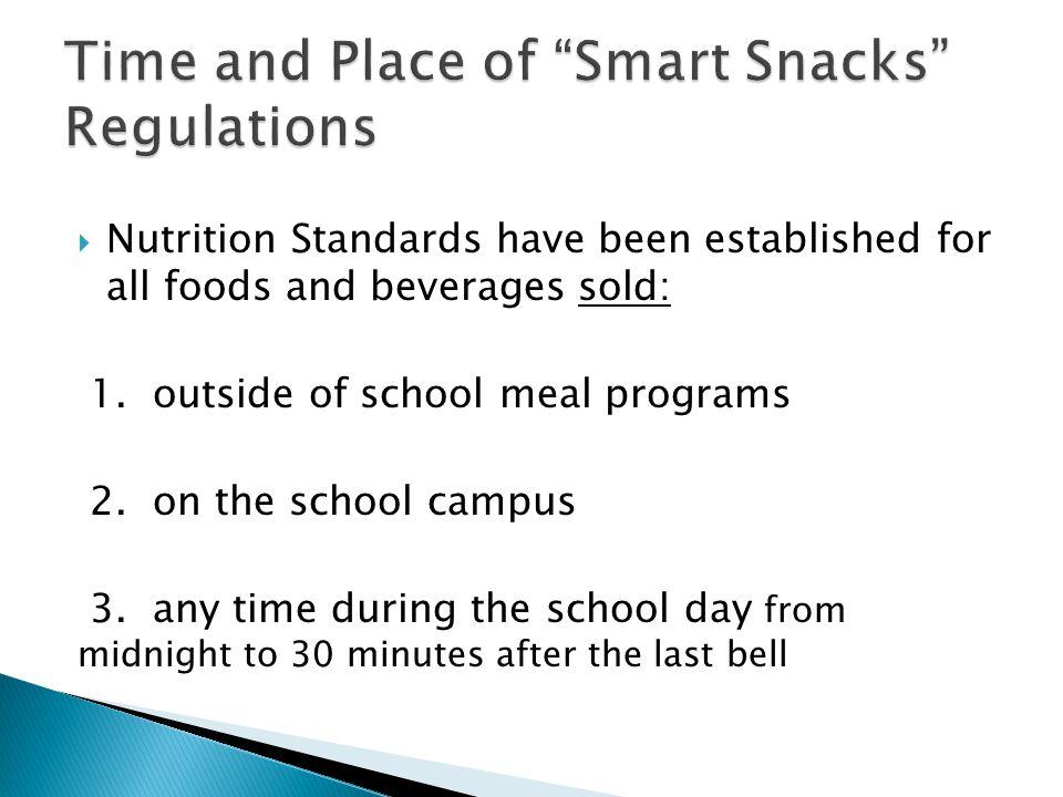 Programs & Foods Affected Programs & Foods Not Affected 1.