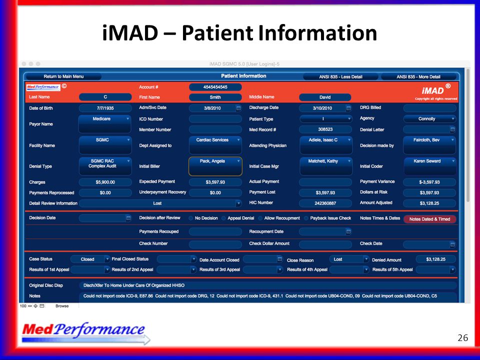 iMAD – Patient Information 26