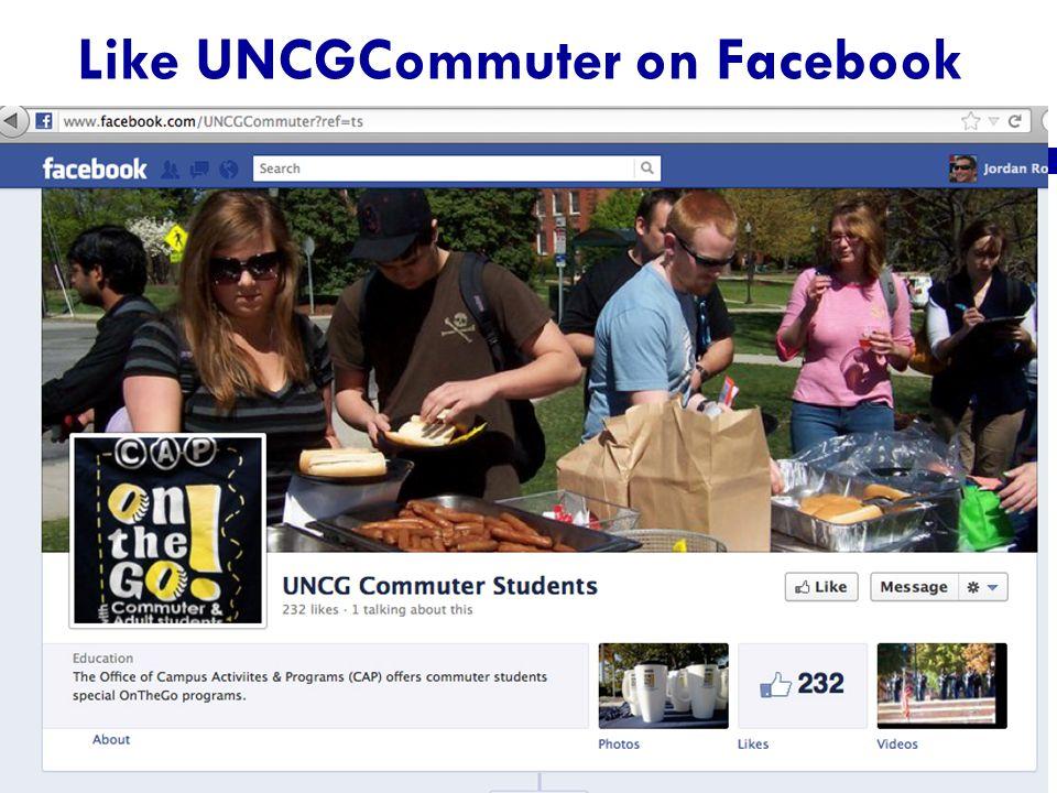 Like UNCGCommuter on Facebook
