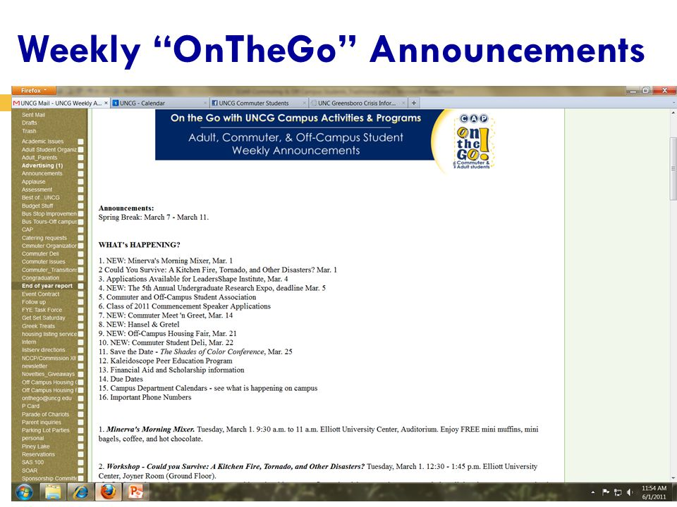 Weekly OnTheGo Announcements