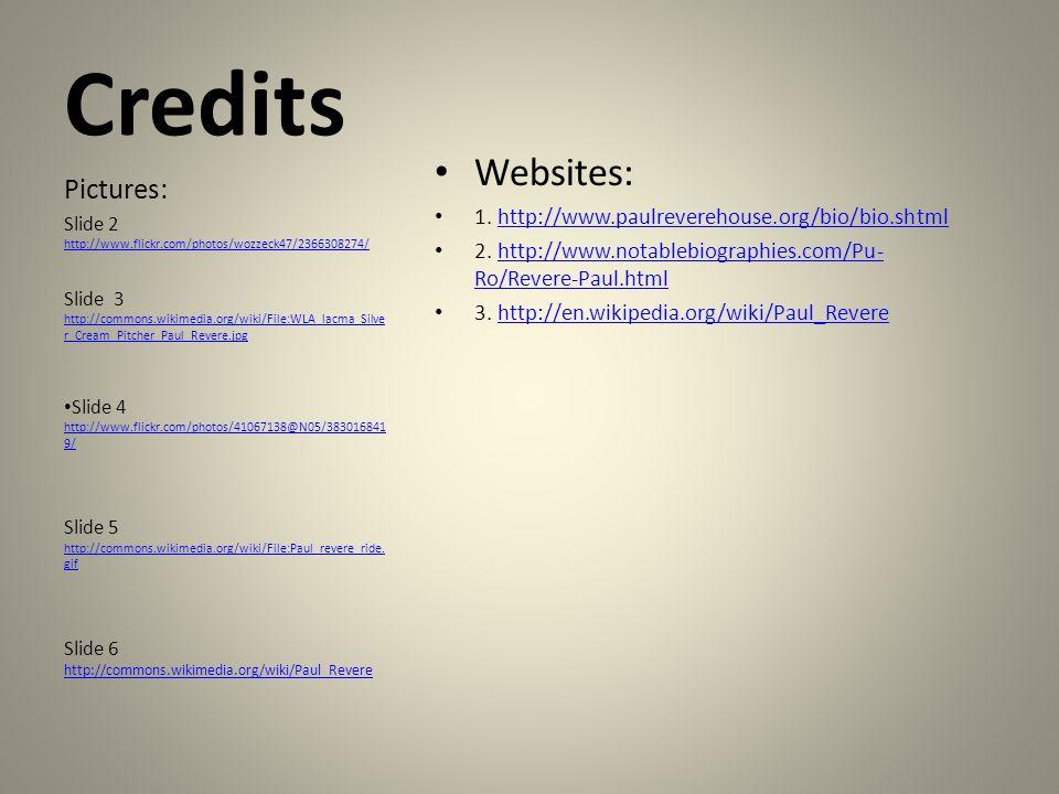 Credits Websites: 1.