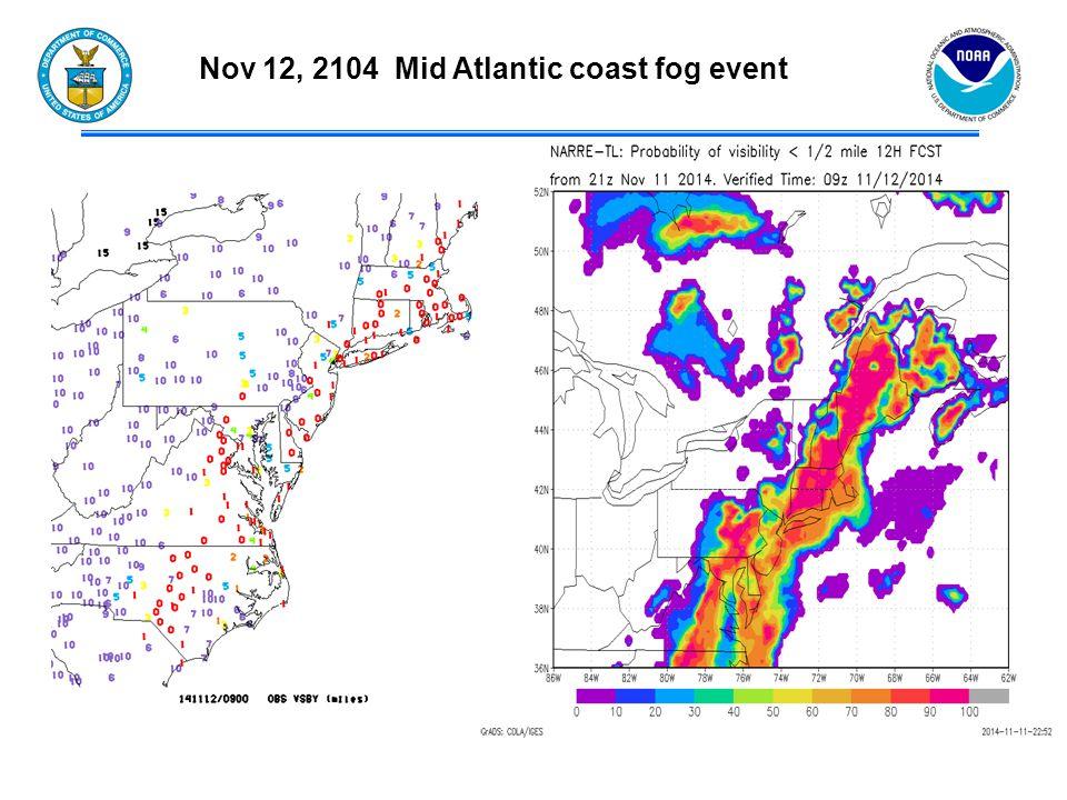 Nov 12, 2104 Mid Atlantic coast fog event
