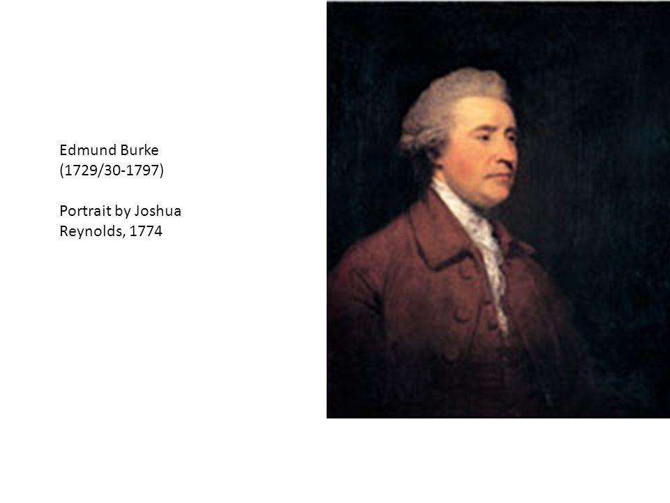 Edmund Burke (1729/30-1797) Portrait by Joshua Reynolds, 1774