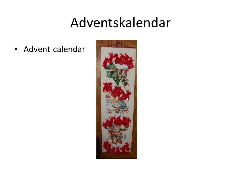 Adventskalendar Advent calendar