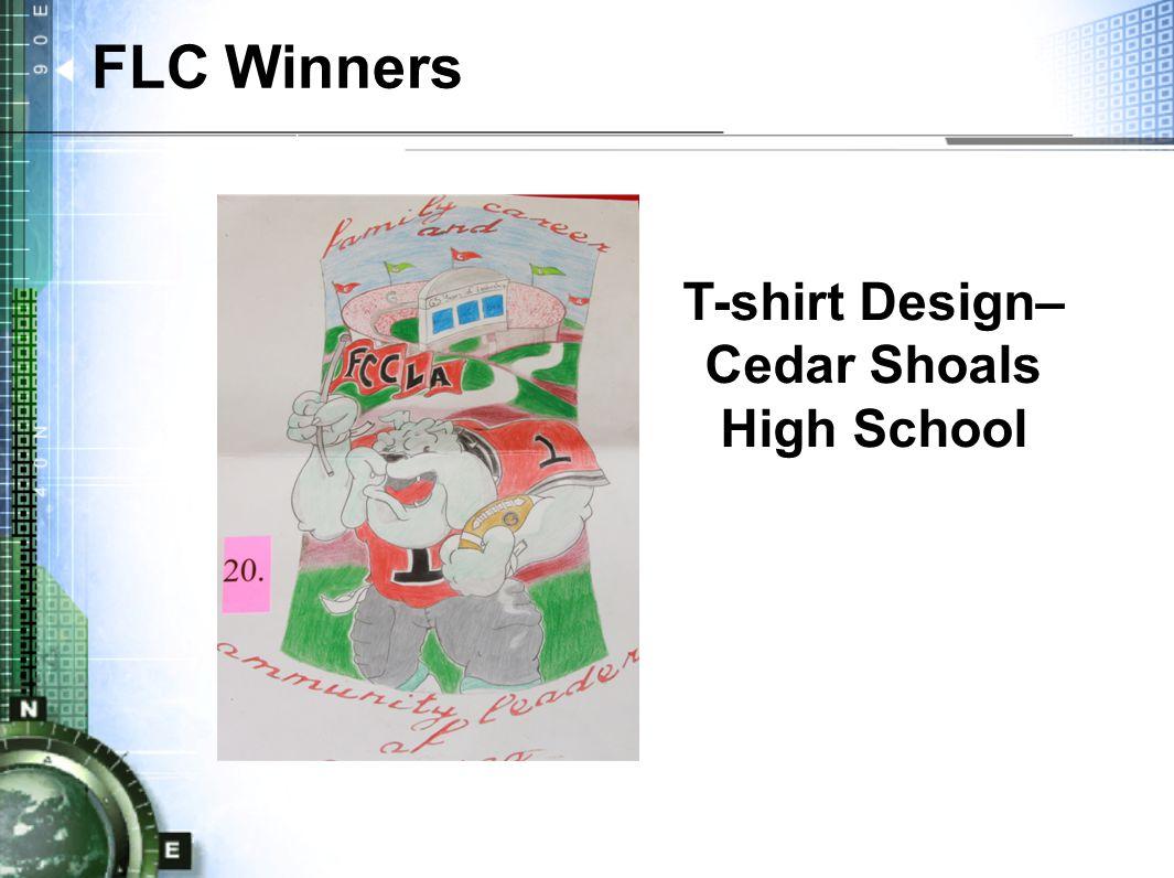 T-shirt Design– Cedar Shoals High School FLC Winners