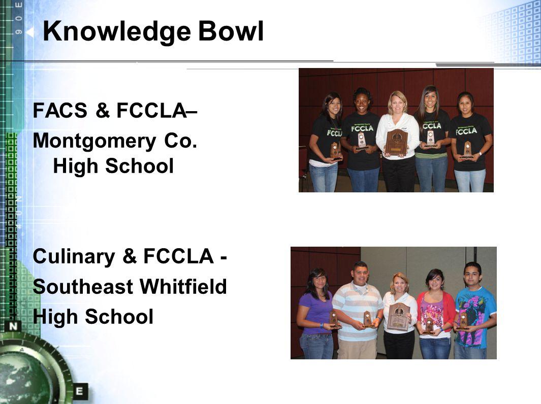 Knowledge Bowl FACS & FCCLA– Montgomery Co.