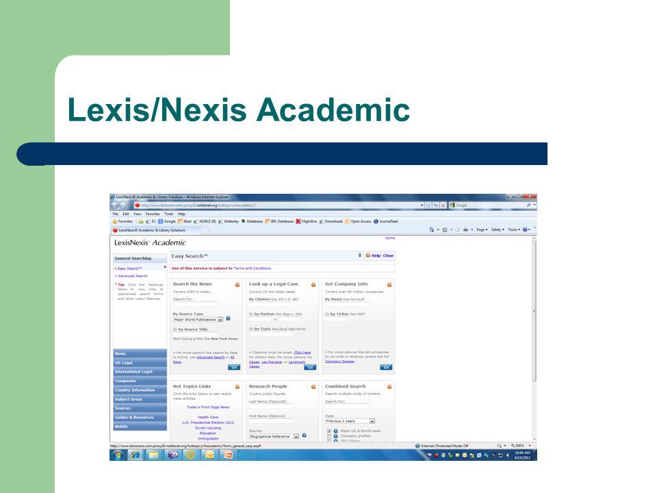 Lexis/Nexis Academic