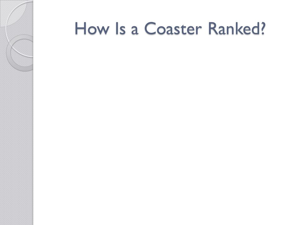 How Is a Coaster Ranked