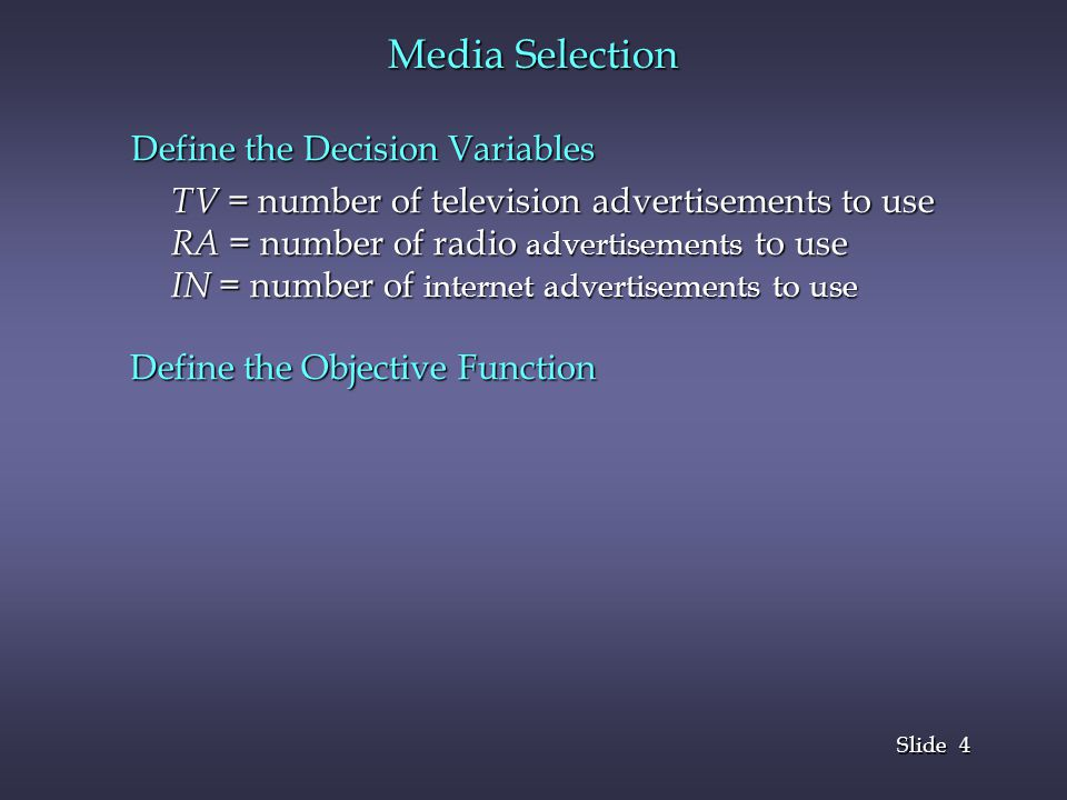 15 Slide PRODUCT MIX Define the Decision Variables Objective Function Constraints