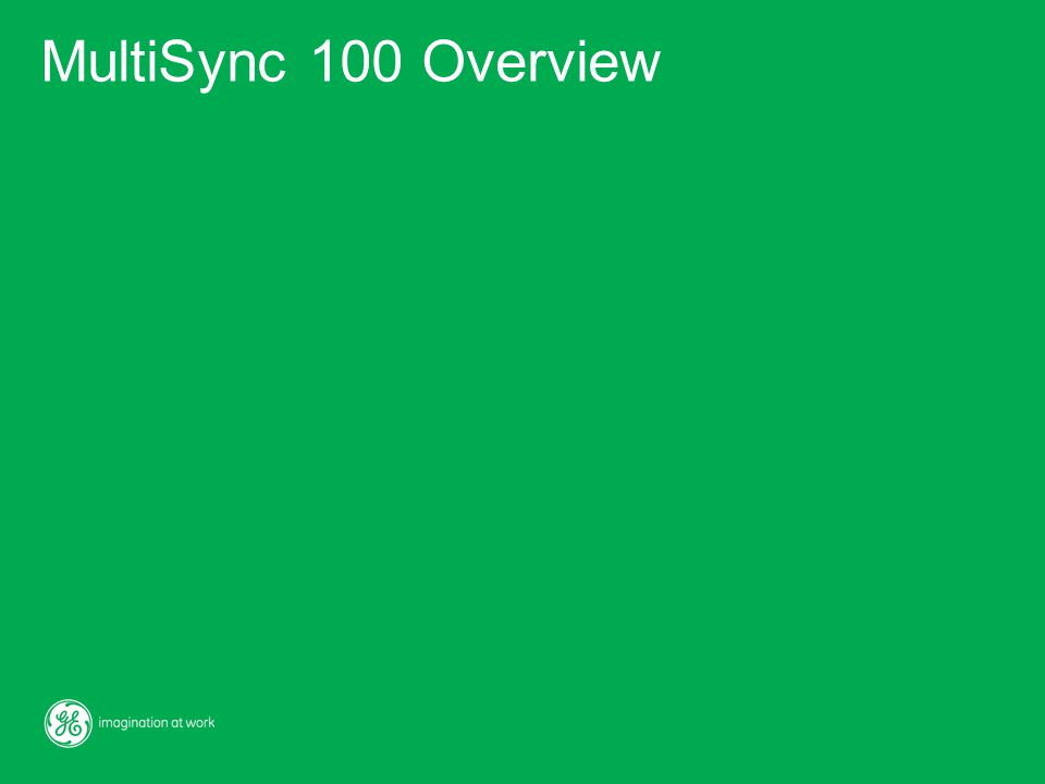 MultiSync 100 Overview