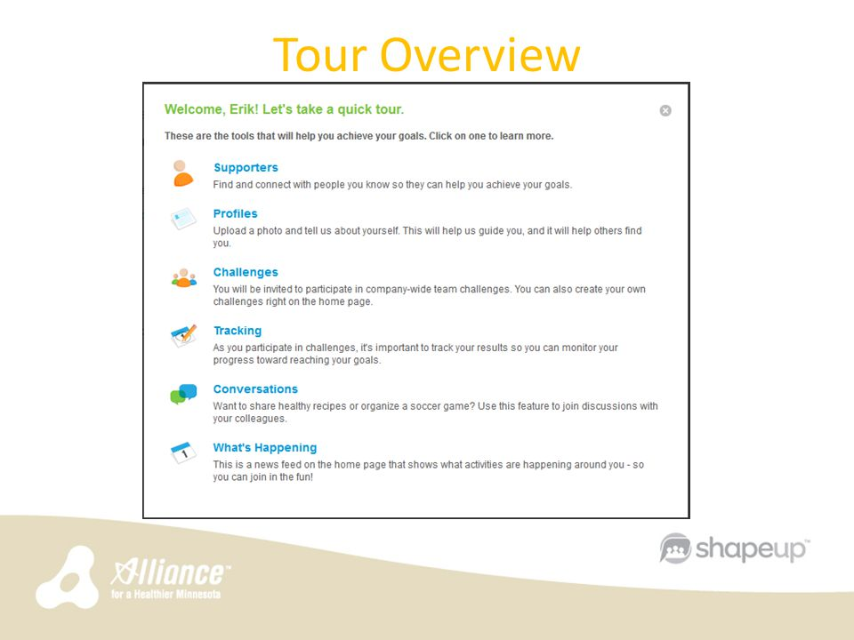 Tour Overview 6
