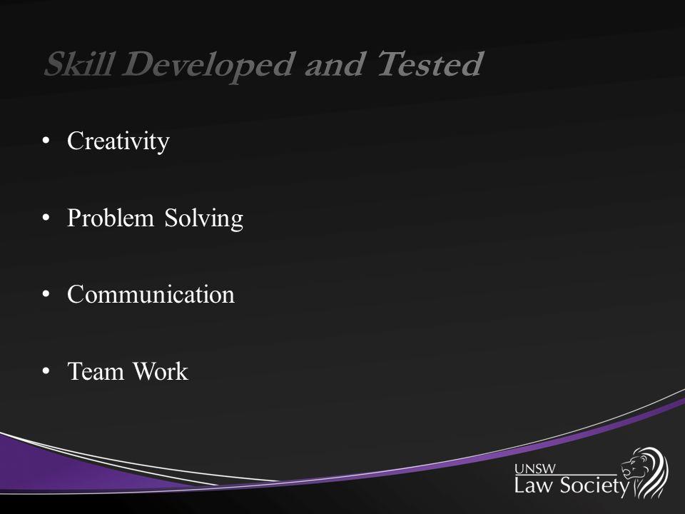 Creativity Problem Solving Communication Team Work