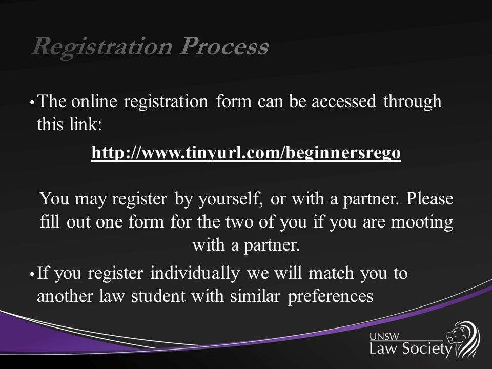 The online registration form can be accessed through this link: http://www.tinyurl.com/beginnersrego You may register by yourself, or with a partner.