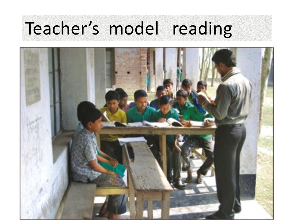 Teacher's model reading