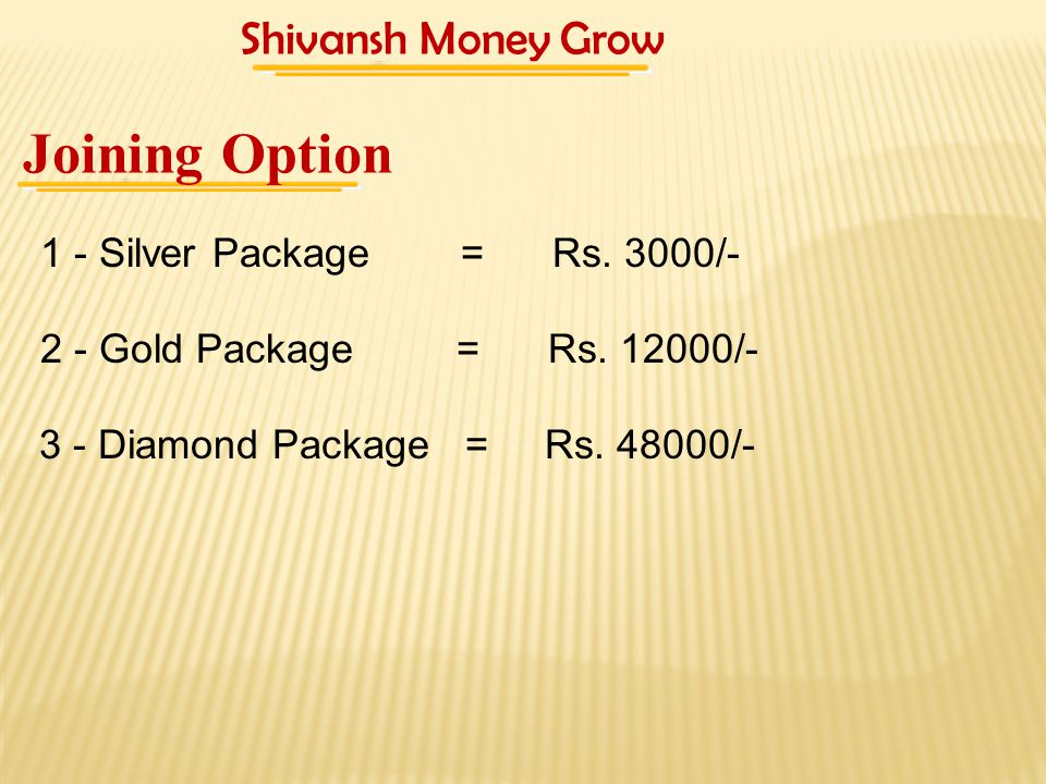 Profit Sharing Income – Silver Package - Rs.3000/-, 200 Rs.