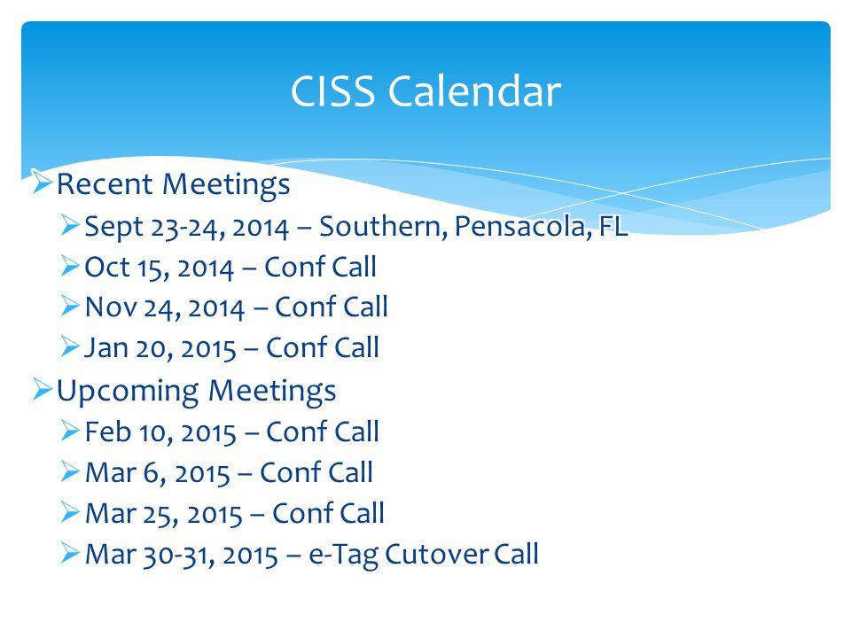 CISS Calendar