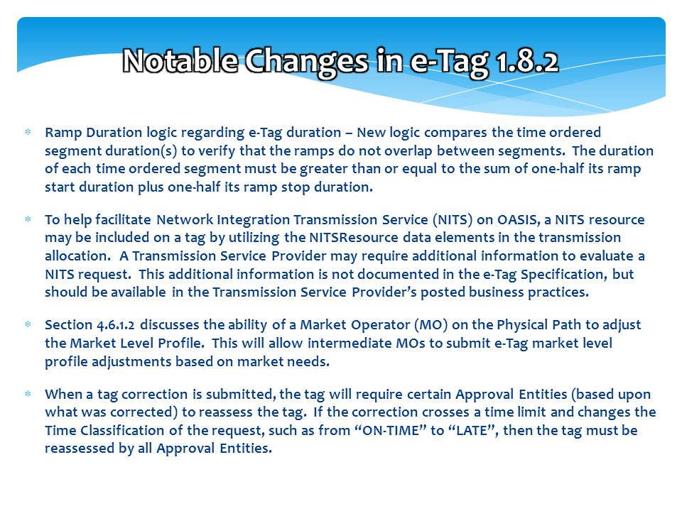 6 Free Template from www.brainybetty.com 6  Ramp Duration logic regarding e-Tag duration – New logic compares the time ordered segment duration(s) to verify that the ramps do not overlap between segments.