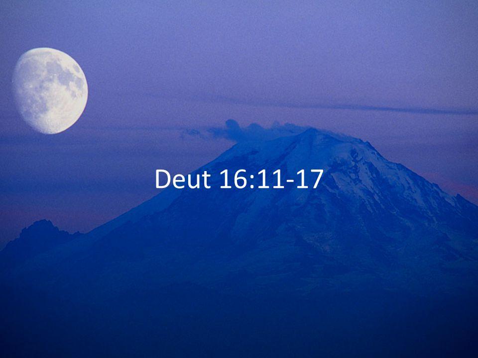 Deut 16:11-17