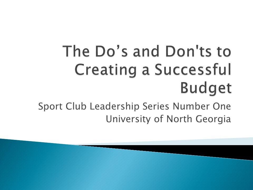 Sport Club Leadership Series Number One University of North Georgia
