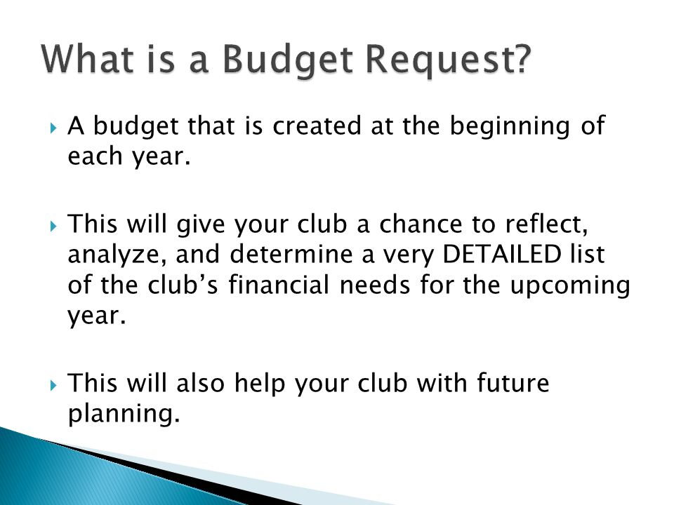  A budget that is created at the beginning of each year.