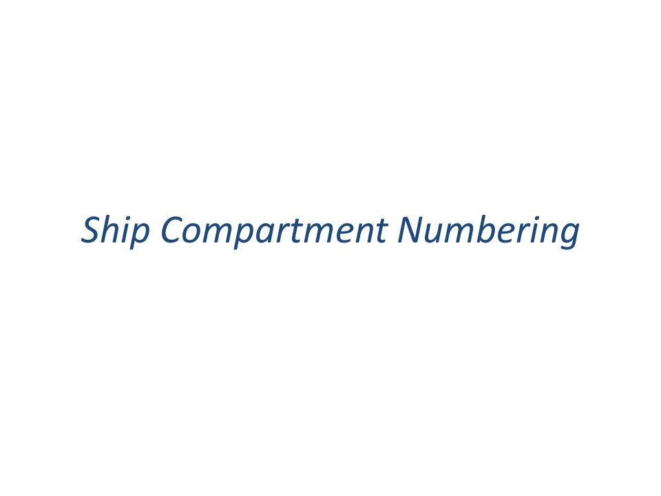 Ship Compartment Numbering