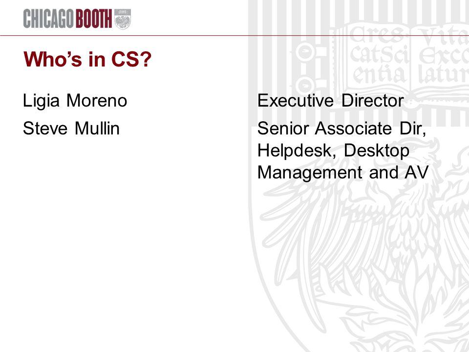 Who's in CS.