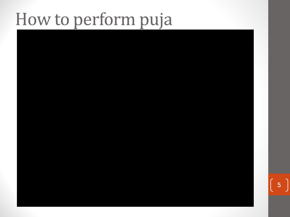 How to perform puja 5