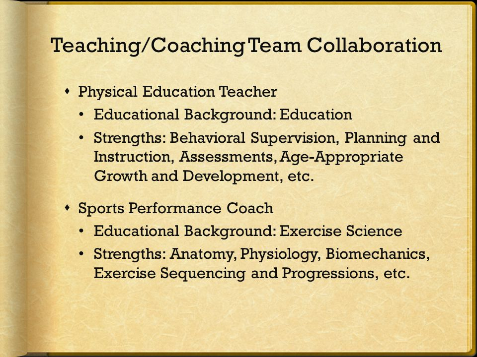  Physical Education Teacher Educational Background: Education Strengths: Behavioral Supervision, Planning and Instruction, Assessments, Age-Appropria
