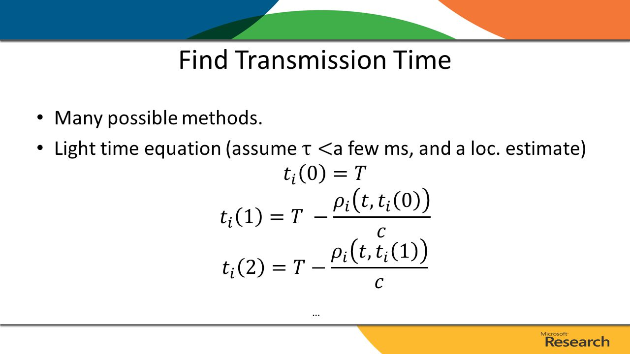 Find Transmission Time …