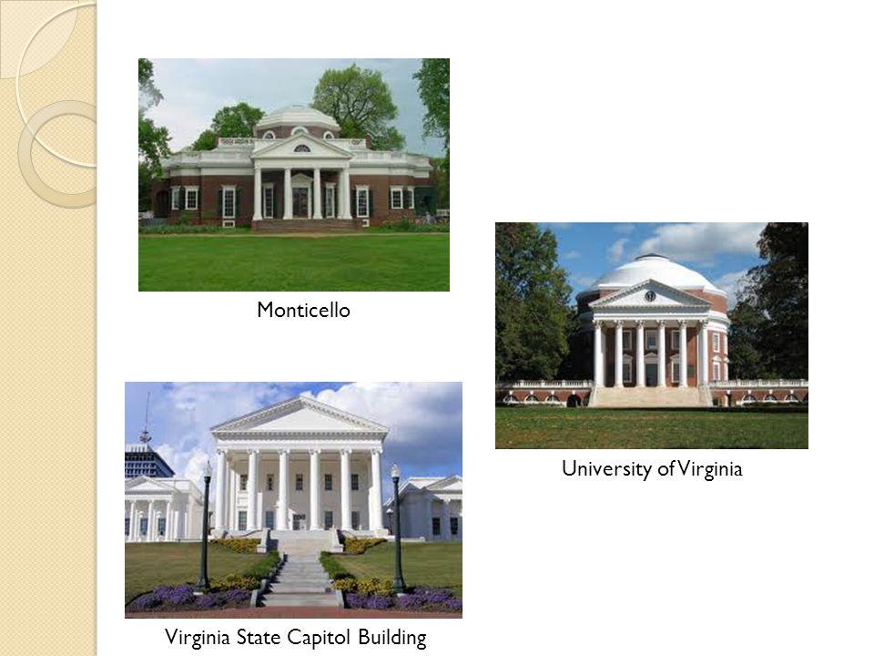 Monticello University of Virginia Virginia State Capitol Building