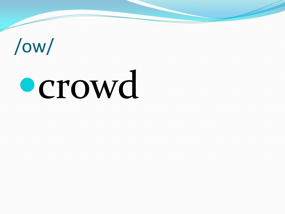 /ow/ crowd