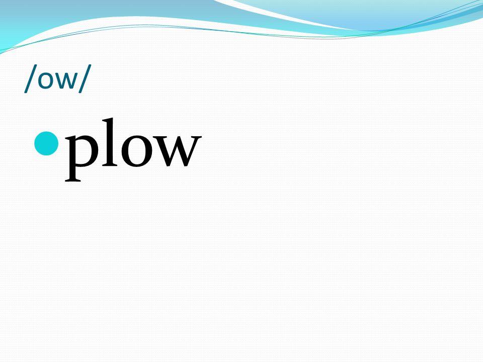 /ow/ plow