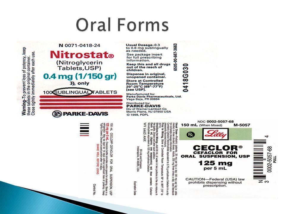 Oral Forms