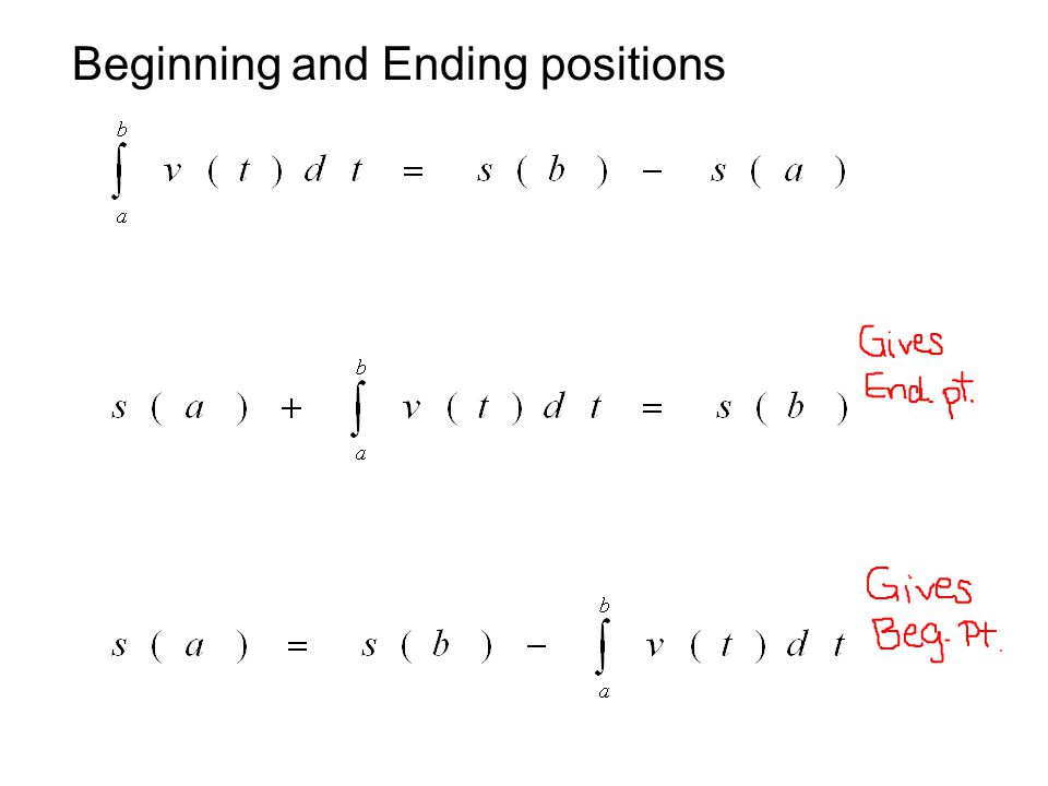 Beginning and Ending positions