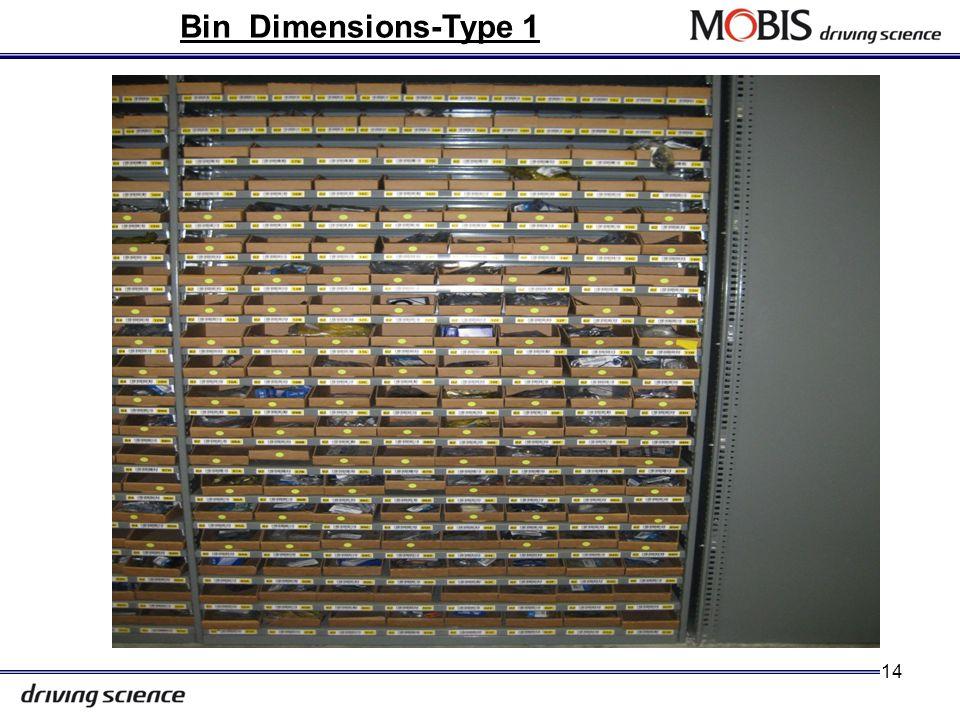 Bin Location Dimensions