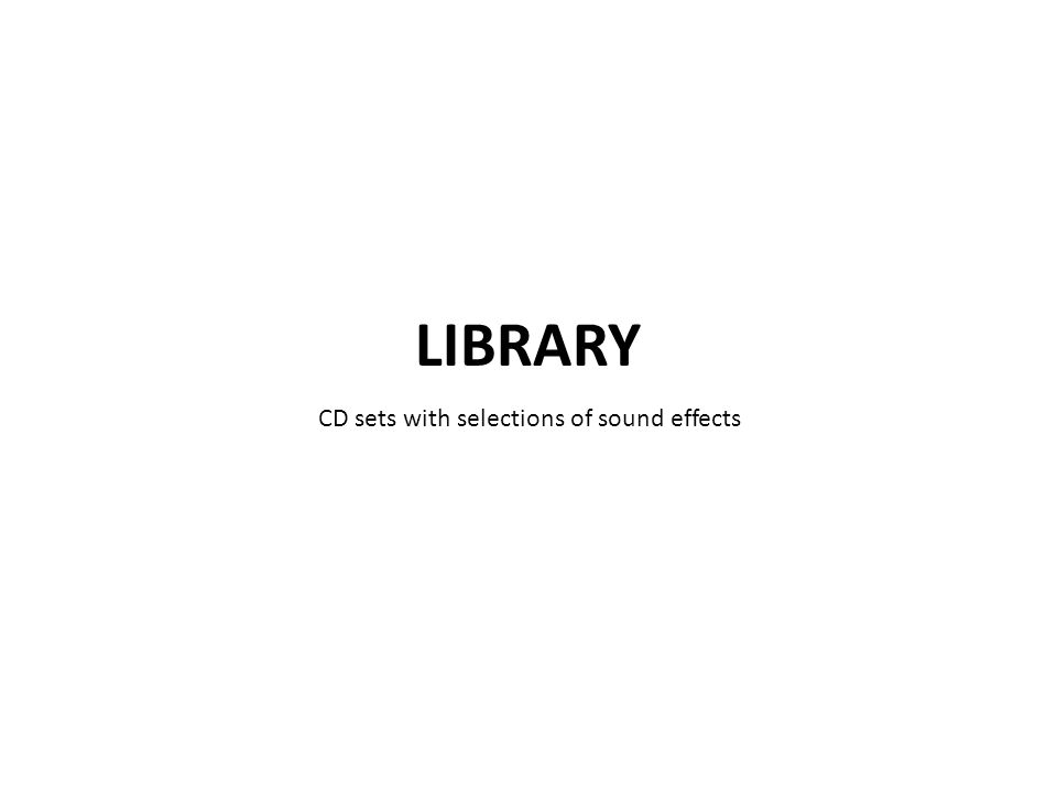 CD sets with selections of sound effects
