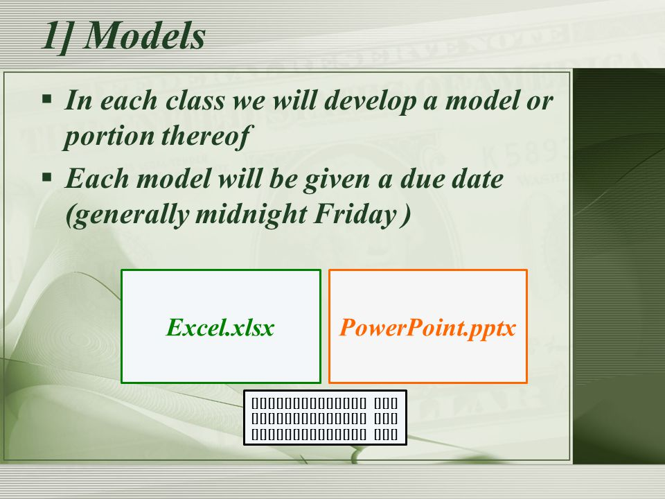 Compass has the template and the powerpoint.It walks you right through the model.