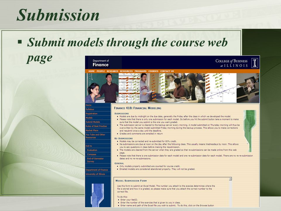 Submission  On submission  the file name is changed to NetID & model number.