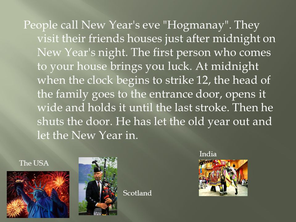 People call New Year s eve Hogmanay .