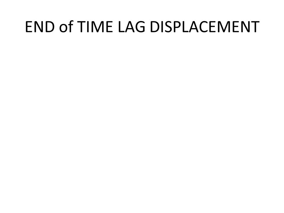 END of TIME LAG DISPLACEMENT