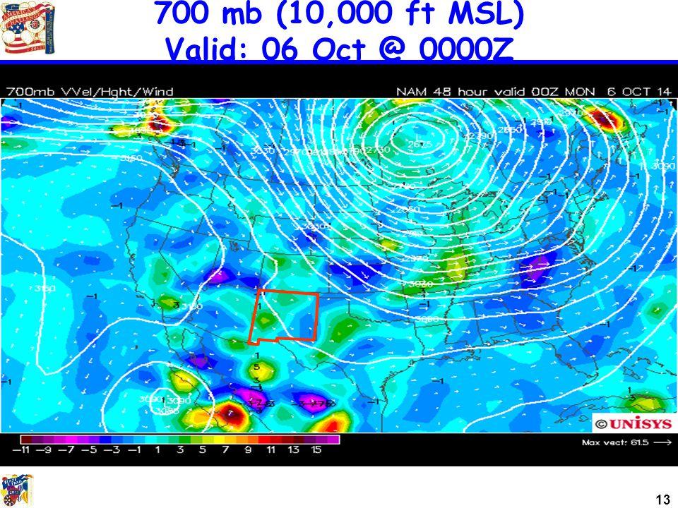13 700 mb (10,000 ft MSL) Valid: 06 Oct @ 0000Z