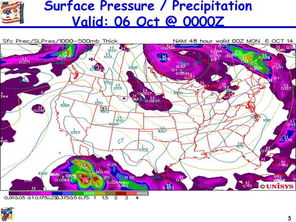 5 Surface Pressure / Precipitation Valid: 06 Oct @ 0000Z
