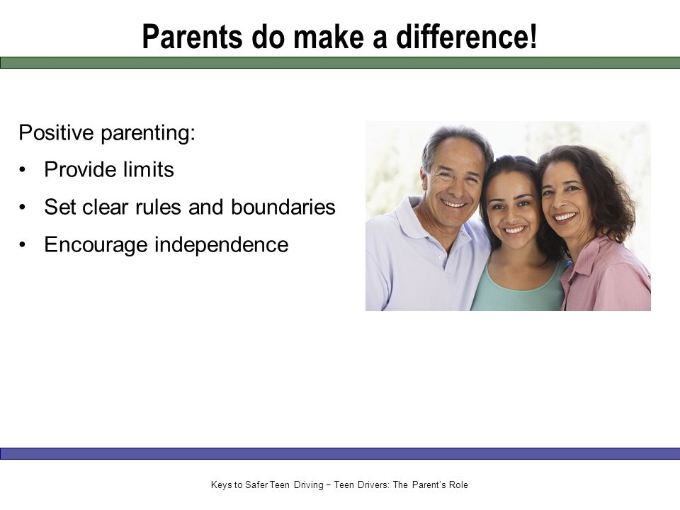 Parents do make a difference.