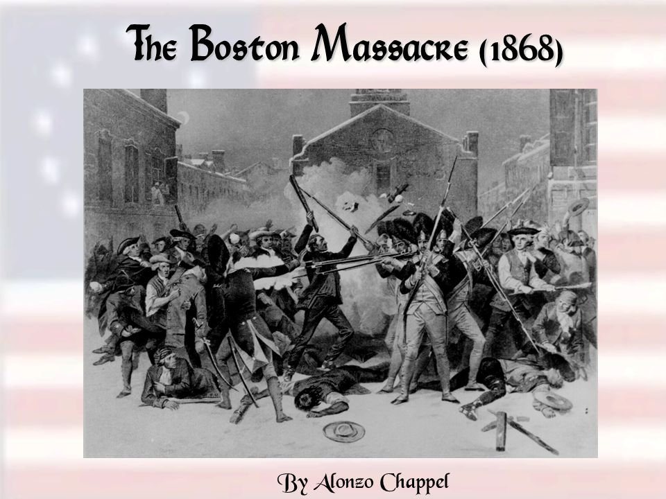 The Boston Massacre (1868) By Alonzo Chappel