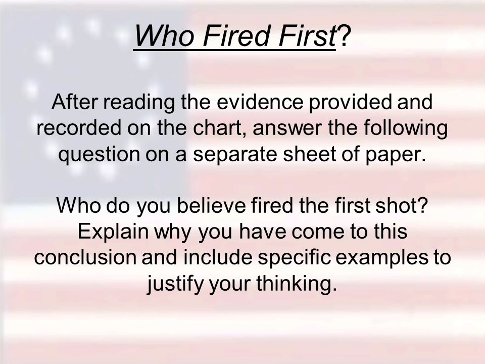 Who Fired First.