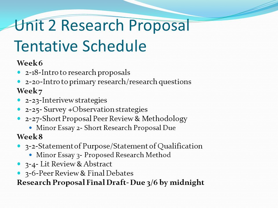 Today's Goals Begin understanding research proposals as a genre Brainstorm possible topics for the class debate
