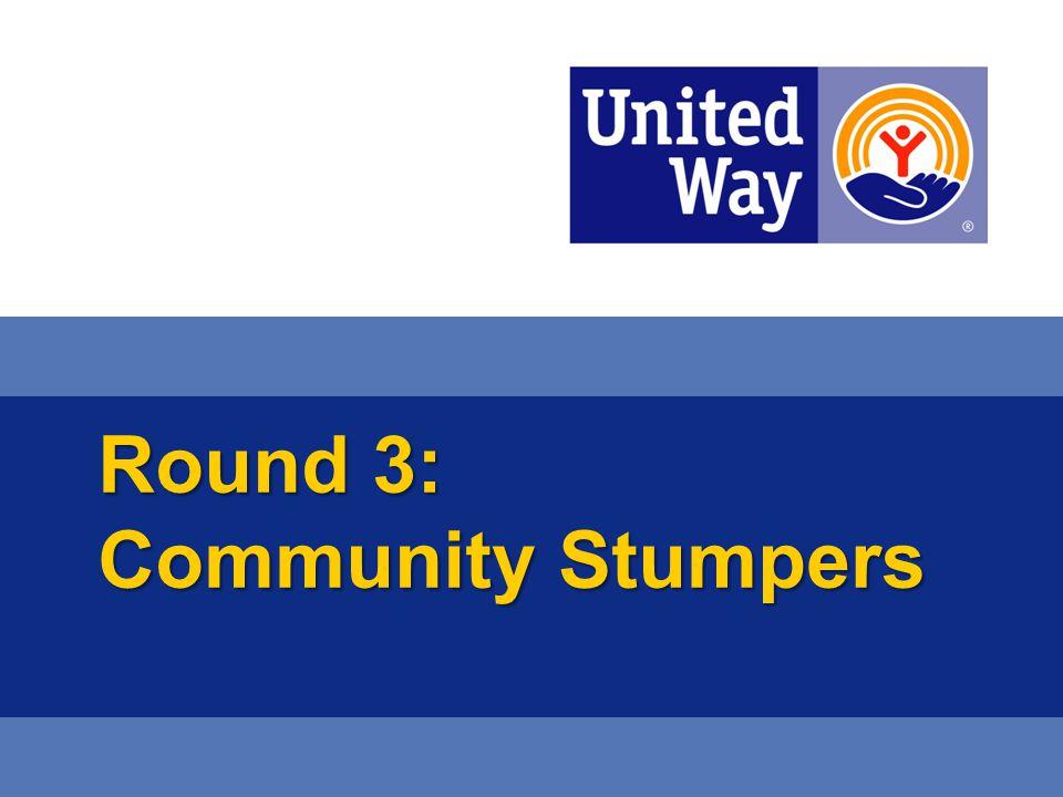Round 3: Community Stumpers