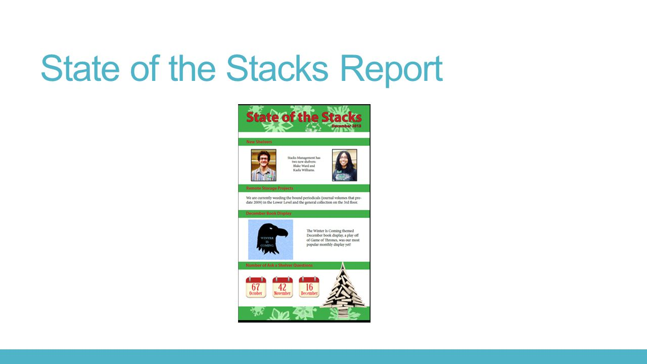 State of the Stacks Report