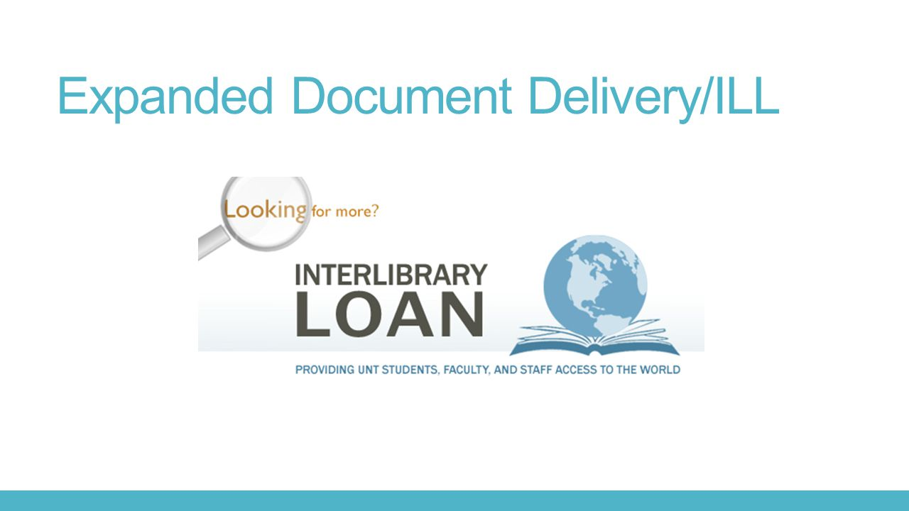 Expanded Document Delivery/ILL